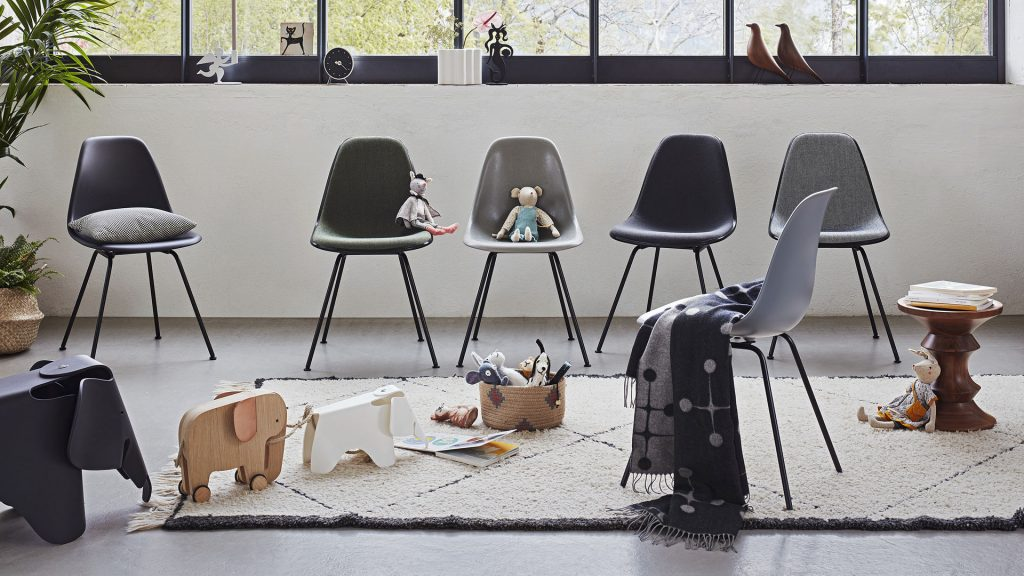 Children's Room with Eames Elephants and chairs