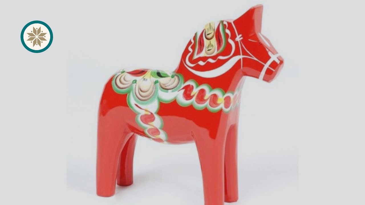 Traditional Dala horse from Sweden