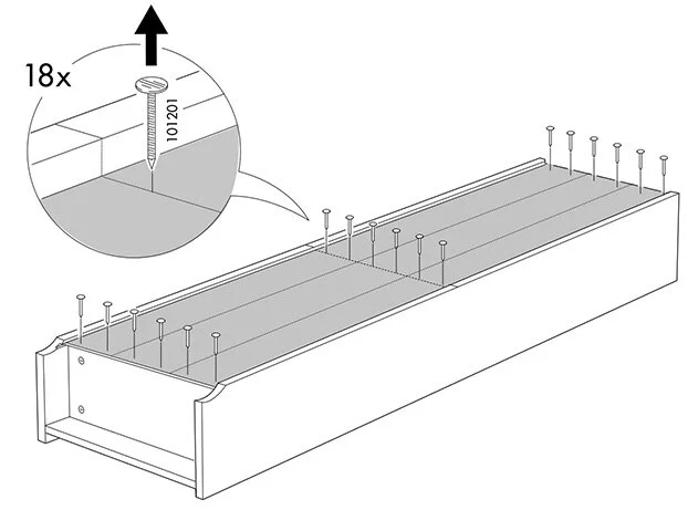 Disassembly instructions from IKEA, step 2