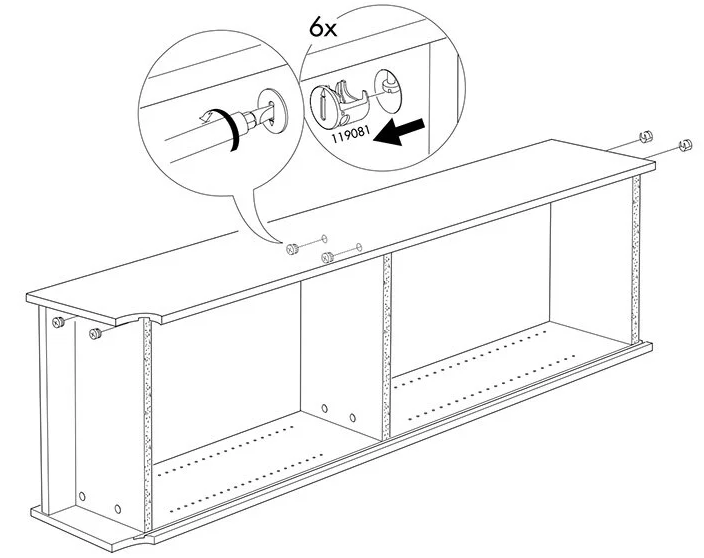 Disassembly instructions from IKEA, step 4