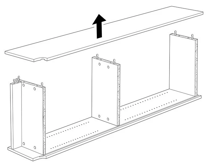 Disassembly instructions from IKEA, step 5