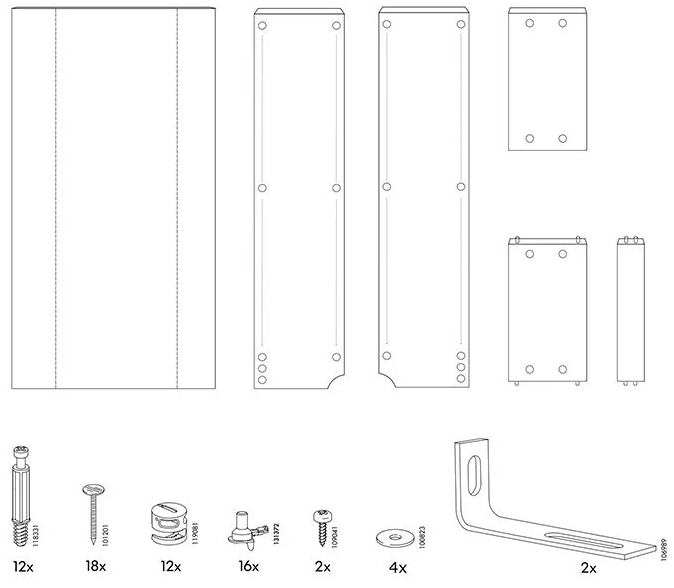 Disassembly instructions from IKEA, step 6