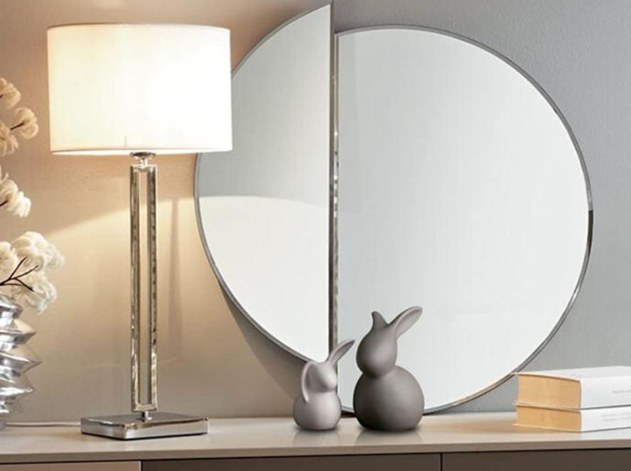 Grey Easter bunnies in the interior