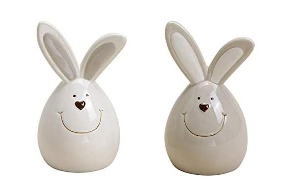 Egg-shaped Easter bunnies