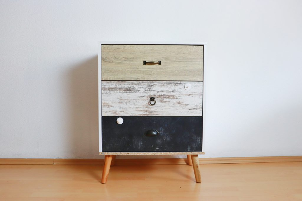 Chest of drawers before the makeover