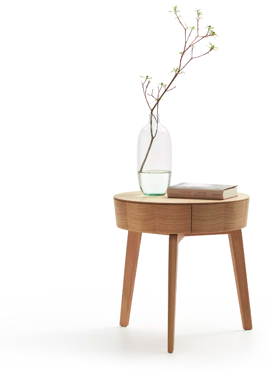 Bedside table Mitsu decorated