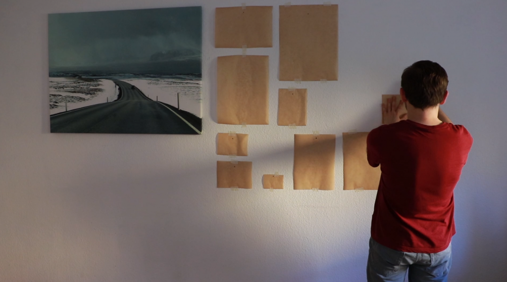 Attaching the placeholders to the wall