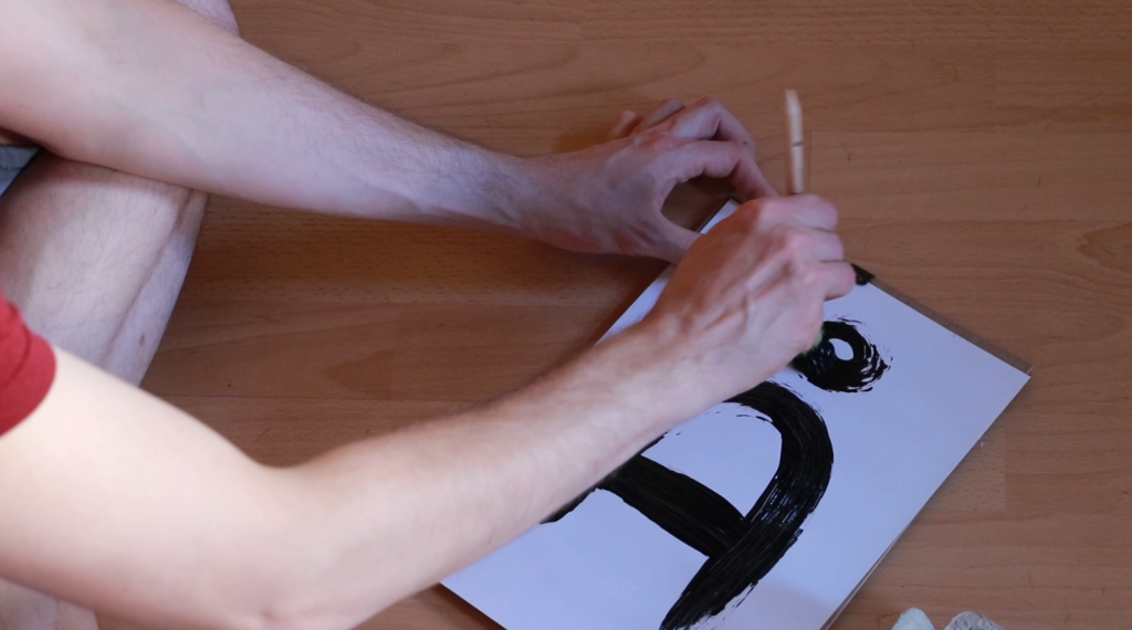 Drawing a Swedish letter