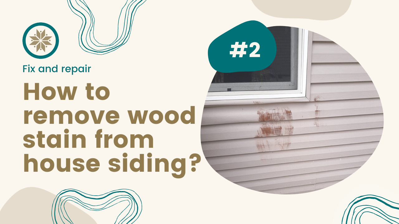 How to remove wood stain from house siding