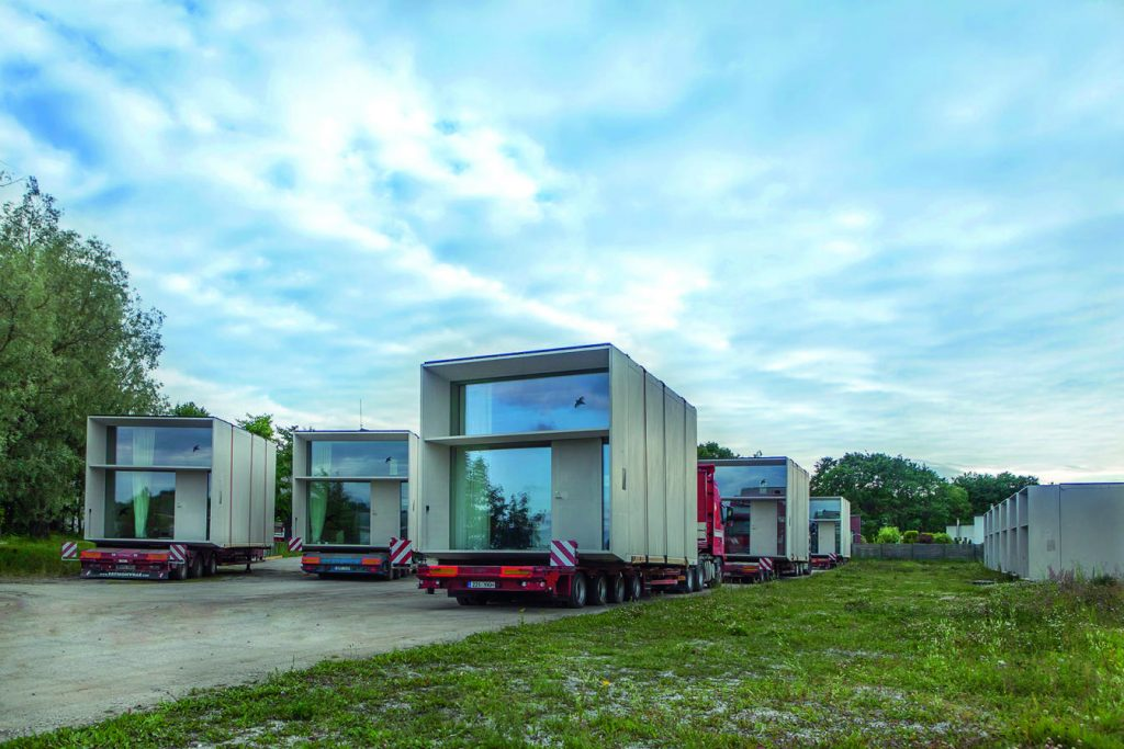 Prefabricated tiny houses - delivery