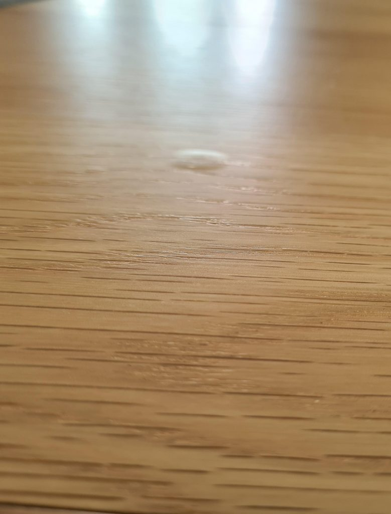 bubbles in wooden tabletop