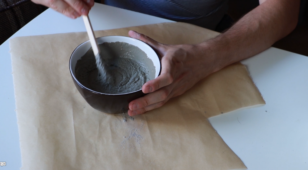 Mixing concrete for DIY project
