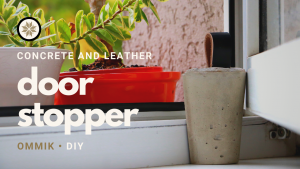 Door stopper made of concrete and leather | YouTube video thumbnail