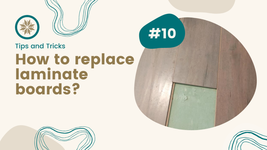 How to replace laminate board