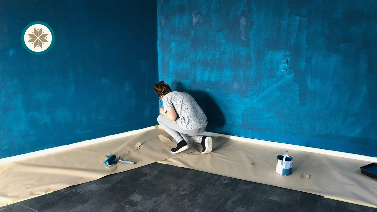 Painting the wall | A big renovation of a rented apartment